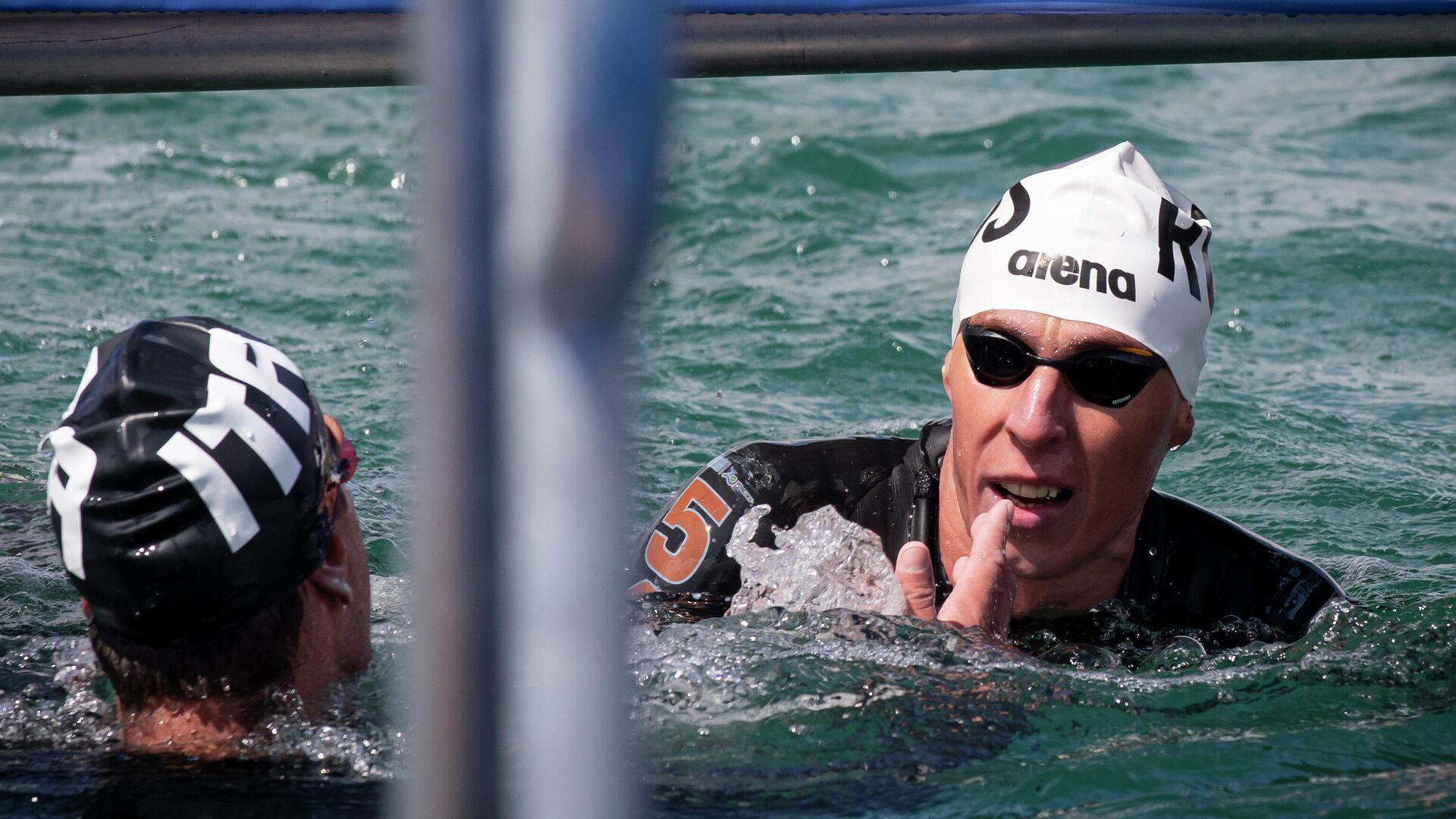 Плавание на открытой воде. Чемпионат Европы. Мужчины. 25 км - РИА Новости, 1920, 05.08.2021