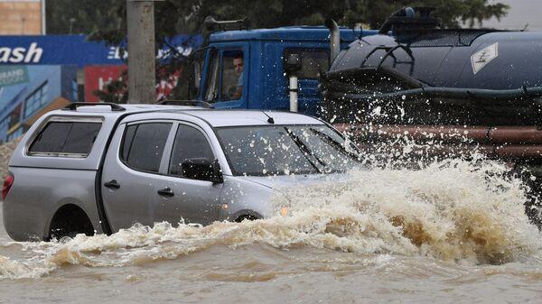 Дорогу Новороссийск  Керчь затопило