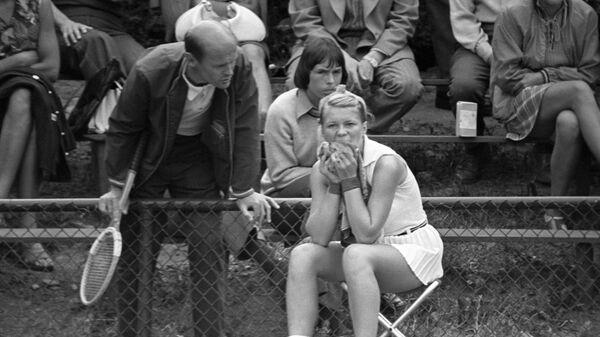 Тренер Владимир Камельзон (слева) и теннисистка Марина Крошина