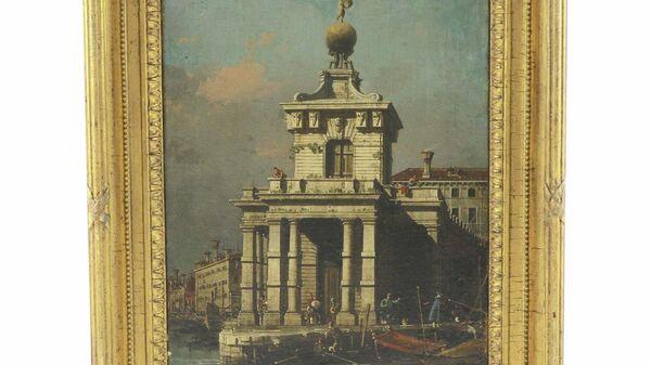 Картина Каналетто Venice, The Dogana from the Bacino di San Marco