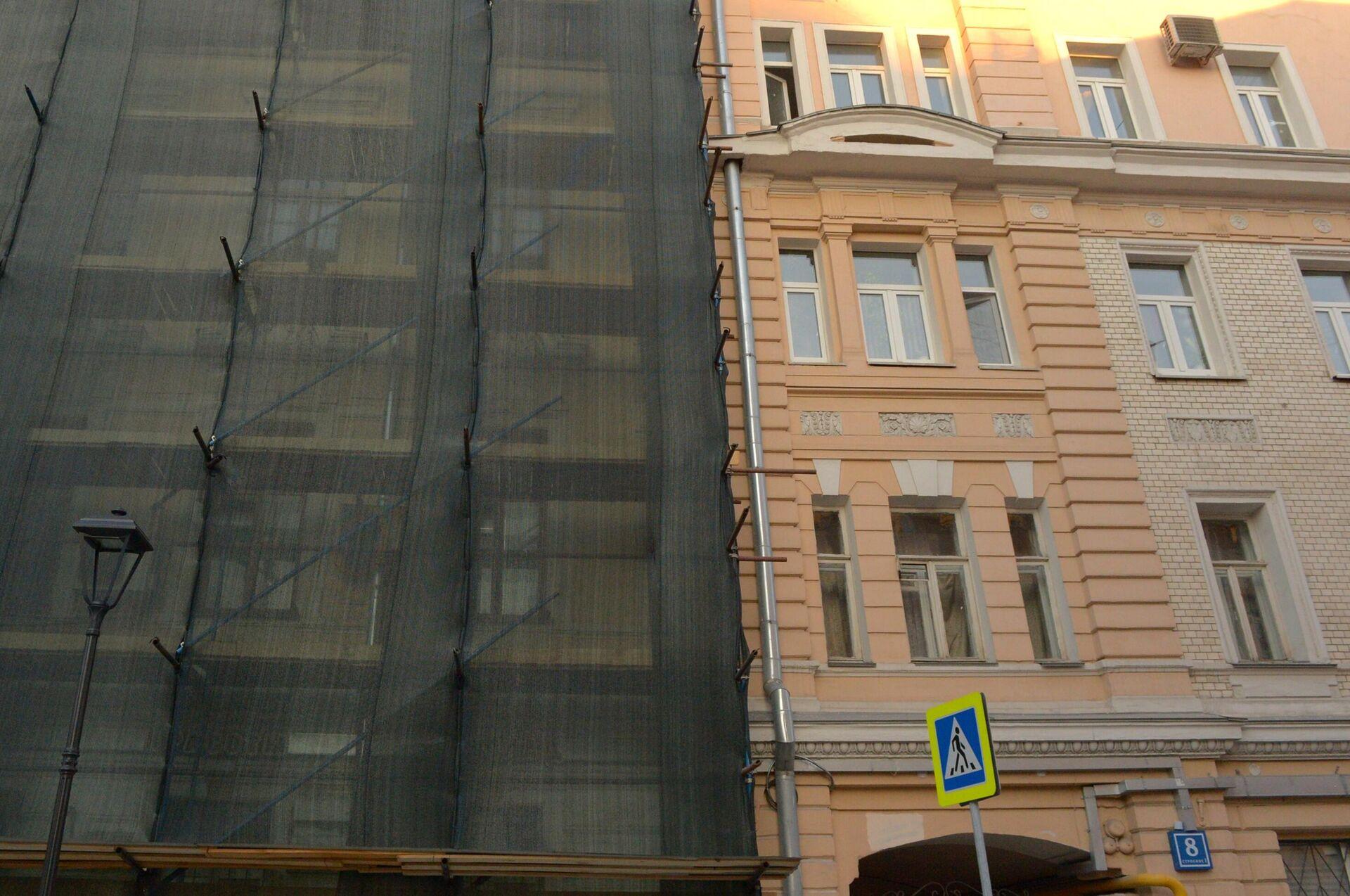 Реставрация дома на улице Чаплыгина, 10 в Москве - РИА Новости, 1920, 23.08.2021