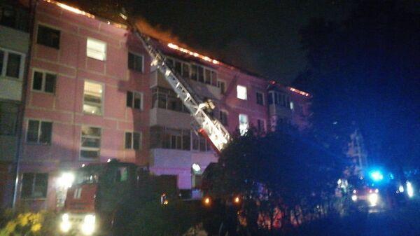 Пожар на улице Черновицкая в городе Рязани