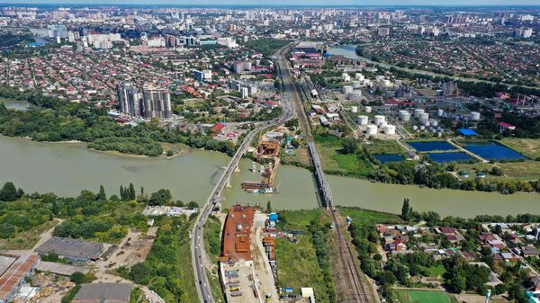 Вид на реку Кубань в Краснодаре