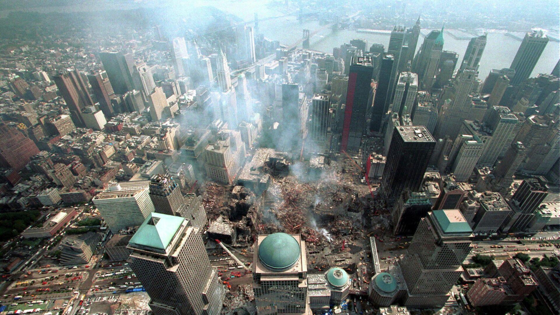 На месте теракта 11 сентября 2001 в Нью-Йорке - РИА Новости, 1920, 11.09.2021