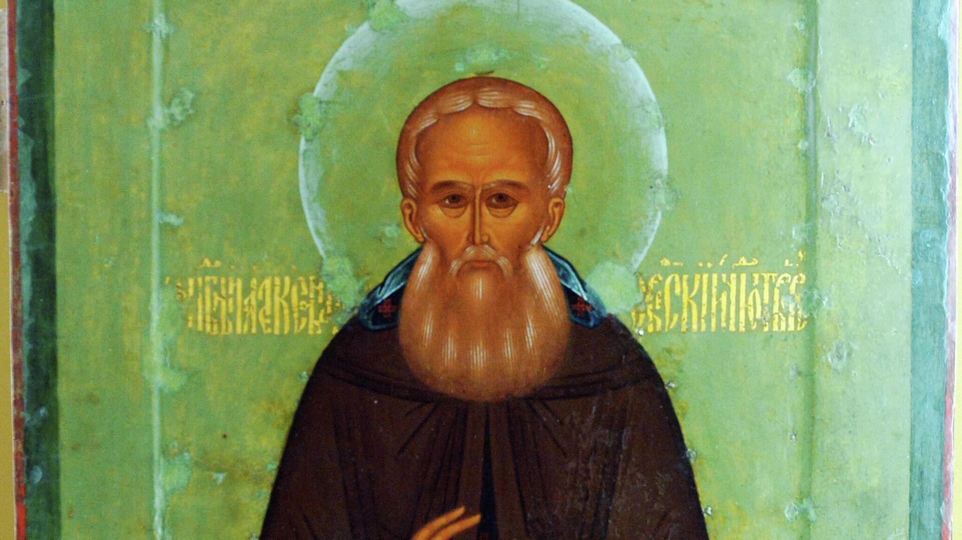 Икона Преподобный Александр Свирский  - РИА Новости, 1920, 12.09.2021