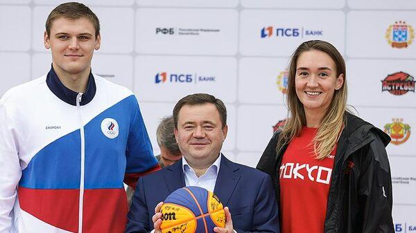 Открытие Центра уличного баскетбола международного уровня в Чебоксарах