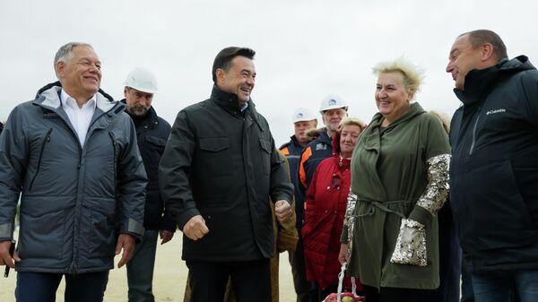 Воробьев проверил подготовку к началу стройки трассы М-12 Москва - Казань
