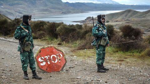Военнослужащие пограничных войск Азербайджана