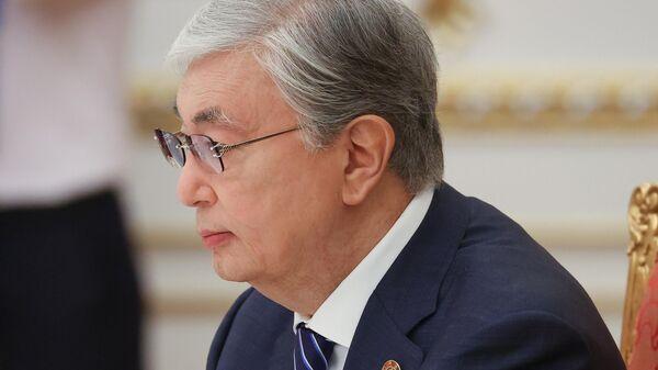 Президент Казахстана Касым-Жомарт Токаев  во время заседания Совета коллективной безопасности ОДКБ