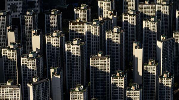 Вид со 123-этажного сверхвысокого небоскреба Lotte World Tower в Сеуле