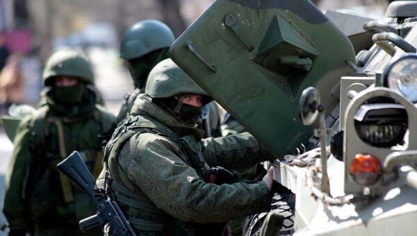 Ситуация в Симферополе весной 2014 года. Архивное фото