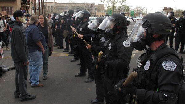 Акция протеста в Альбукерке, США. Фото с места события