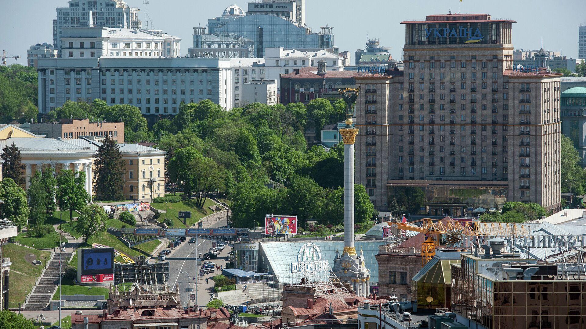 Вид на площадь Независимости в Киеве - РИА Новости, 1920, 10.03.2021