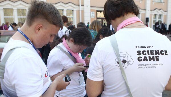 Участники научной командной игры Tomsk Science Game