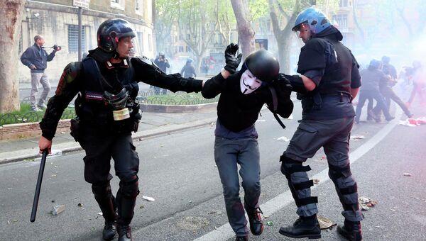 Антиправительственные демонстрации в Италии