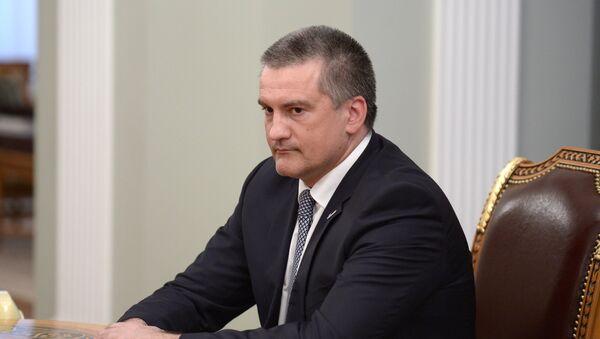 Исполняющий обязанности губернатора Крыма Сергей Аксенов. Фото с места события