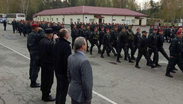 Батальон нацгвардии Украины отбыл для дежурства на восток страны