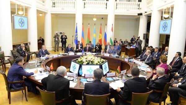 Заседание Совета Парламентской Ассамблеи ОДКБ. Архивное фото.