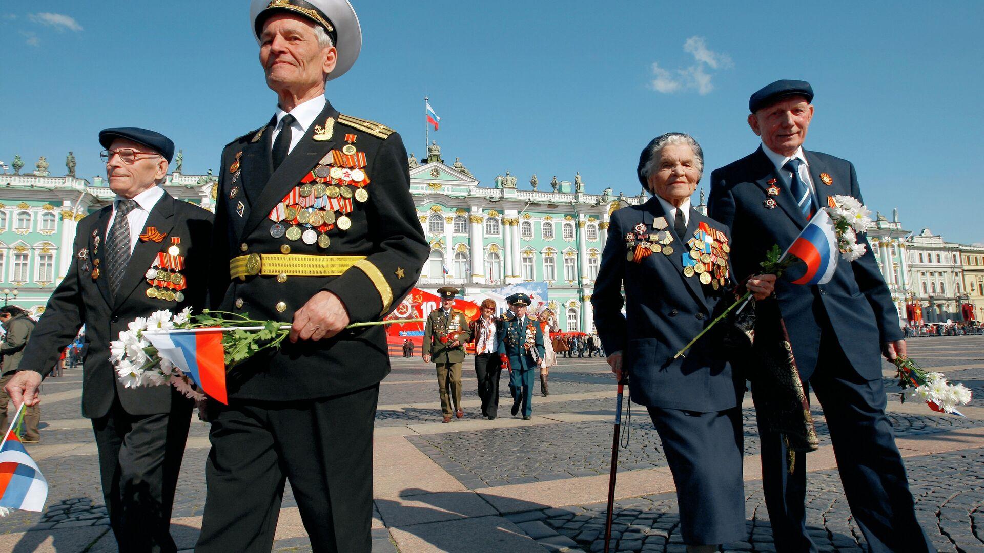 Военный парад в Санкт-Петербурге, посвященный Дню Победы - РИА Новости, 1920, 07.05.2021