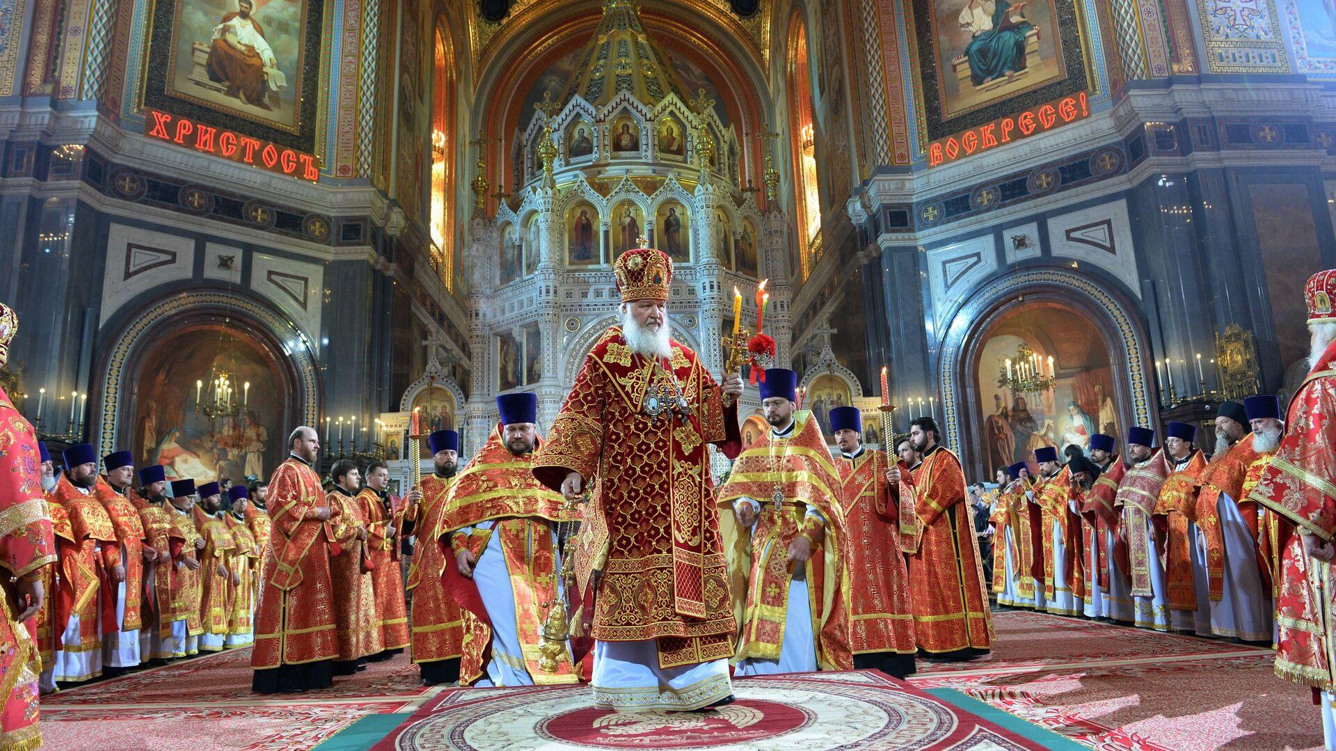 Служба на Воскресение Христово - РИА Новости, 1920, 02.05.2021