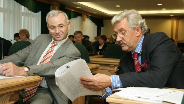 Депутаты Законодательной думы Томской области на собрании, архивное фото