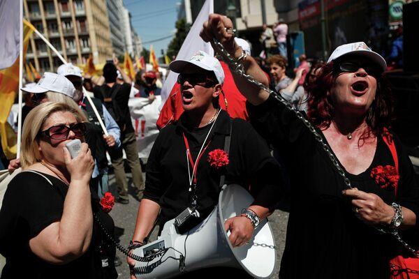 Первомайский митинг в Афинах, Греция