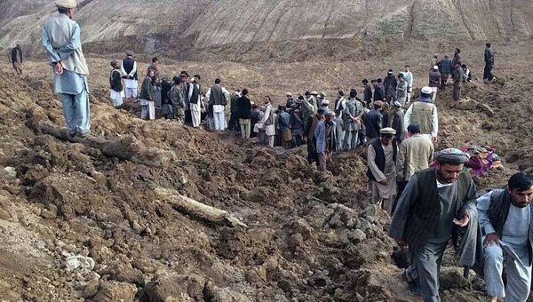 Оползень в Афганистане
