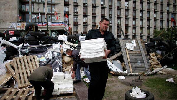 Подготовка к референдуму в Донецке