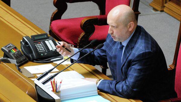 Секретарь Совета национальной безопасности и обороны (СНБО) Украины Александр Турчинов. Архивное фото