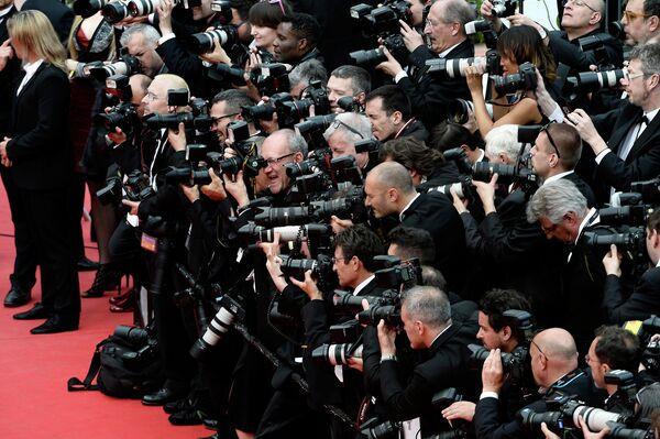 Фотографы на церемонии открытия 67-ого Каннского фестиваля