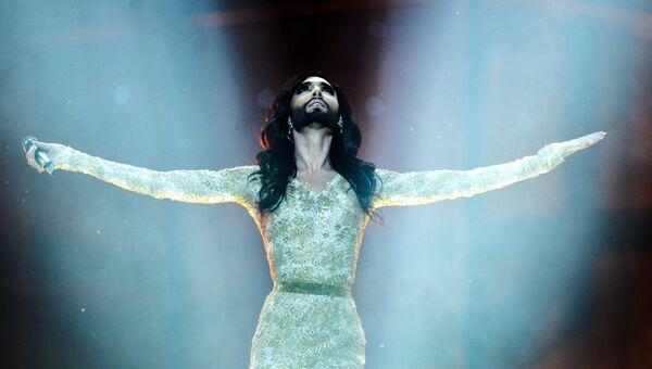 Кончита Вурст на Евровидение-2014. Архивное фото.