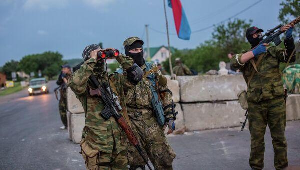 Бойцы народного ополчения Донбасса, архивное фото
