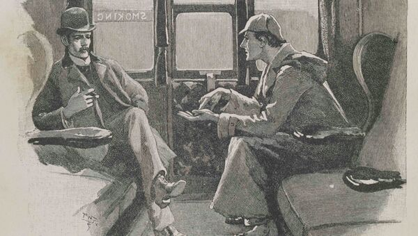 Иллюстрация к произведению Конан Дойла о Шерлоке Холмсе