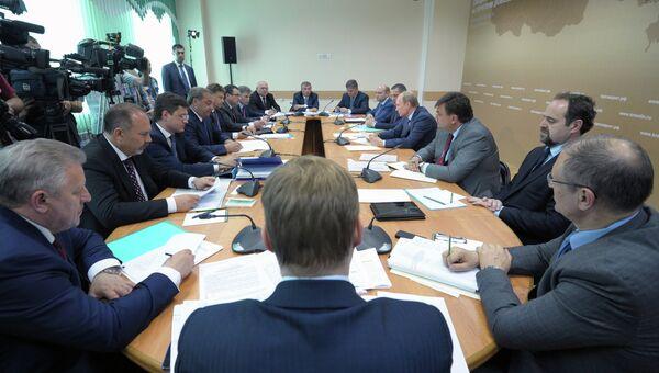 Рабочая поездка В.Путина в Благовещенск