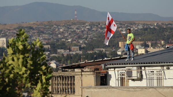 Митинг оппозиционной коалиции Грузинская мечта в Тбилиси