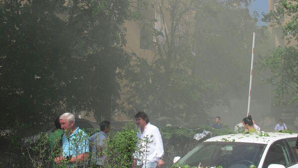 Взрыв бытового газа в жилом доме на Кутузовском проспекте в Москве