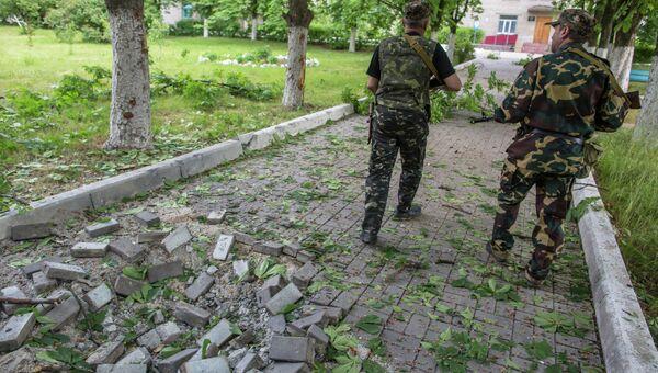 Ополченцы в Донецкой области, архивное фото