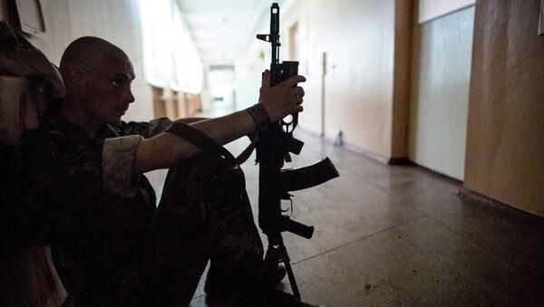 Боец ополчения Донецкой области. Архивное фото