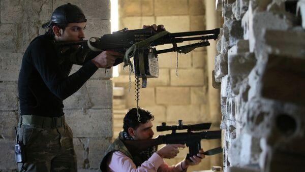 Повстанцы из Свободной армии Сирии. Архивное фото
