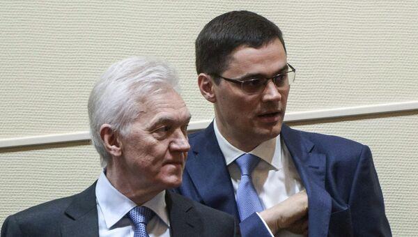 Геннадий Тимченко (слева) и  Александр Попов. Архивное фото