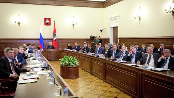 Совещание по оперативным вопросам в мэрии Москвы. Архивное фото