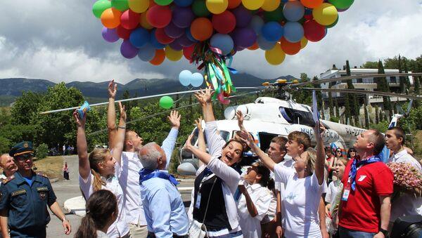 Международный день защиты детей в Артеке. Архивное фото
