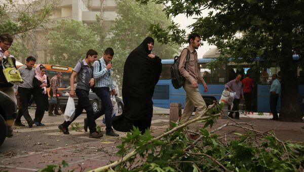 Песчаная буря в Тегеране
