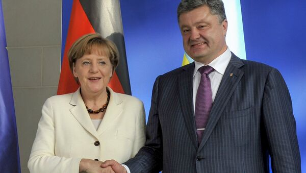 А.Меркель встретилась с П.Порошенко в Берлине