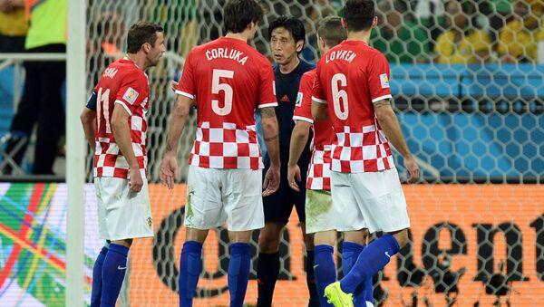Игроки сборной Хорватии. Архивное фото