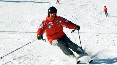 Михаэль Шумахер катается на горных лыжах в Италии
