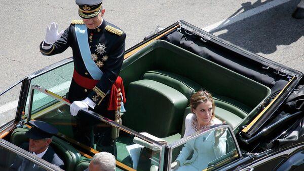 Новый король Испании Фелипе VI и его жена королева Летиция