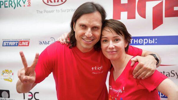 Александр Ревва и Чулпан Хаматова на открытии международных соревнований для детей, победивших рак