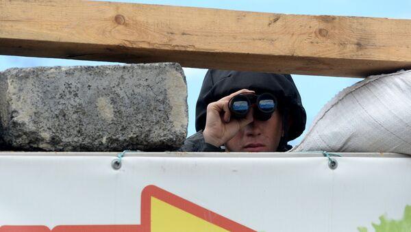 Блокпост национальной гвардии Украины в Славянске. Архивное фото.