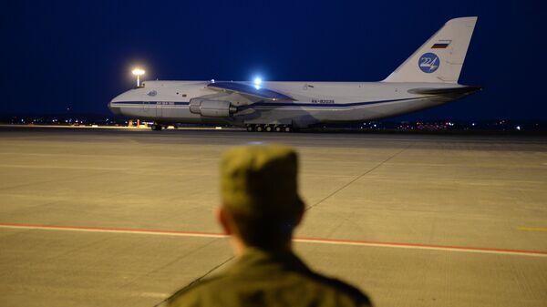 Российский военно-транспортный самолет Ан-124